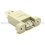 USB Gender Changer - AM-AF Panel Mount