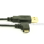 USB 2.0 A to Right Angle Micro-B Cable - Ultra-Thin