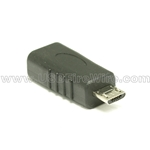 USB 2.0 Gender Changer - Micro-B Male to Micro-B Female - All 5 wires attached